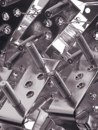 Close-up of Metal Brackets with Bolts