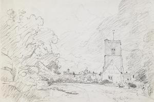 A Church and Cottage, C.1829 by John Constable