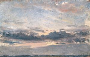A Cloud Study, Sunset, C.1821 (Oil on Paper on Millboard) by John Constable