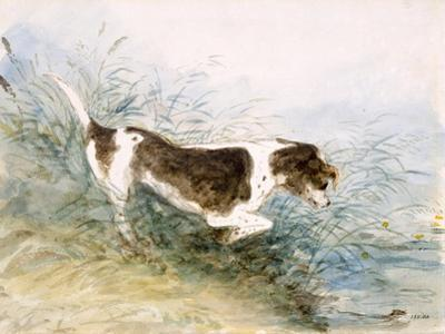 'A Dog Watching a Rat in the Water', 1831 by John Constable