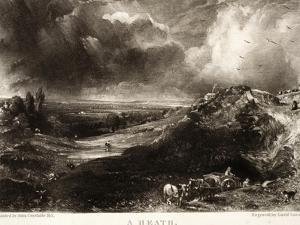A Heath, from Various Subjects of Landscape Characteristic of English Scenery by John Constable