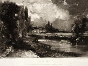 A Mill, from Various Subjects of Landscape Characteristic of English Scenery by John Constable