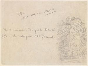 A Slight Sketch of Trees, 1834 by John Constable