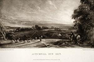 Autumnal Sun Set by John Constable