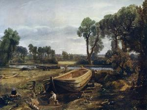 Boat Building Near Flatford Mill, 1815 by John Constable