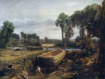 Boat Building Near Flatford Mill, 1815
