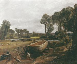 Boat-Building near Flatford Mill by John Constable