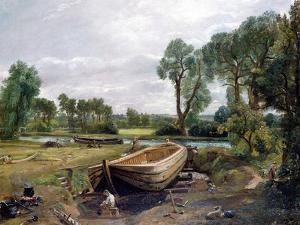 Boat Building by John Constable