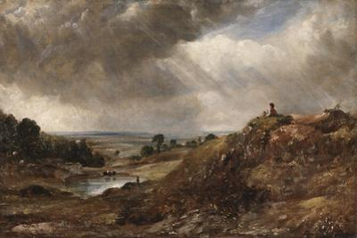 Branch Hill Pond, Hampstead Heath, with a Boy Sitting on a Bank by John Constable