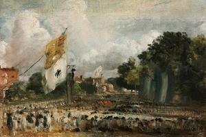 Celebration of the General Peace of 1814 in East Bergholt, 1814 by John Constable