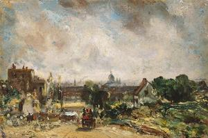 City of London from Sir Richard Steele's Cottage with the Mail Coach on the Road by John Constable