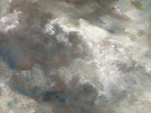 Cloud Study, 1821 (Oil on Paper Laid Down on Paper) by John Constable