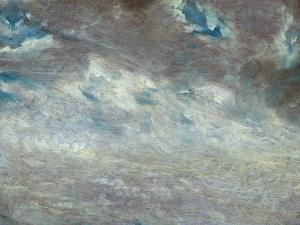 Cloud Study, 1821 (Oil on Paper on Board) by John Constable