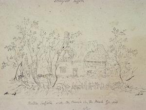 Cottage at East Bergholt, with a Well by John Constable