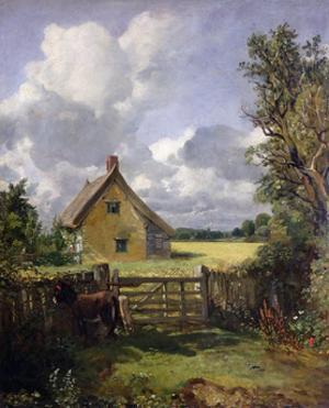 'Cottage in a Cornfield', 1833 by John Constable