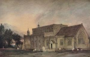 'East Bergholt Church from the South-East', 1811 by John Constable