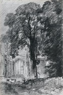 East Bergholt Church: Part of the West End Seen Beyond a Group of Elms, 1925 by John Constable