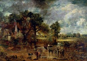 """Full Scale Study for """"The Hay Wain,"""" circa 1821 by John Constable"""