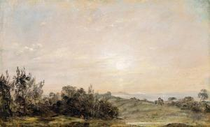 Hampstead Heath, Looking Towards Harrow, 1821-22 (Oil on Paper Laid on Canvas) by John Constable