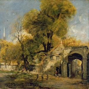 Harnham Gate, Salisbury, c.1820-21 by John Constable