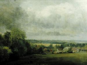 Higham Village am Flusse Stour, c.1804 by John Constable