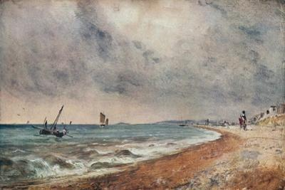 'Hove Beach, with Fishing Boats', c1824 by John Constable