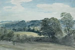 Landscape with Buildings in the Distance by John Constable