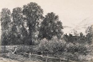 Landscape with Elm Tress and a House by John Constable