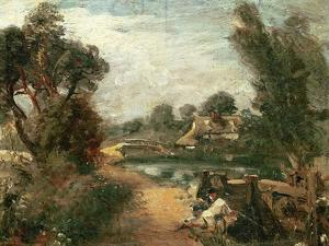 Lock on the Stour by John Constable