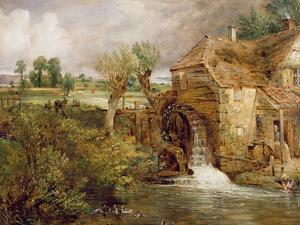 Mill at Gillingham, Dorset, 1825-26 by John Constable