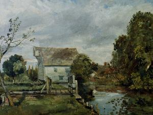 Mill by the River Stour, c.1820 by John Constable