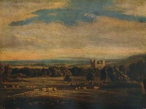 Naworth Castle, c1826 by John Constable