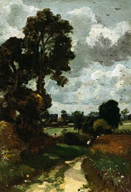 Oil Sketch of Stoke-By-Nayland by John Constable