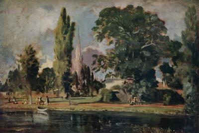 'Salisbury Cathedral and Leadenhall from the River Avon', 1820 by John Constable