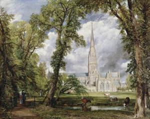 Salisbury Cathedral from the Bishop's Ground, 1823 by John Constable