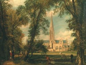 Salisbury Cathedral from the Bishop's Grounds, 1823-26 by John Constable