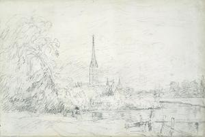 Salisbury Cathedral from the North West, 1829 by John Constable