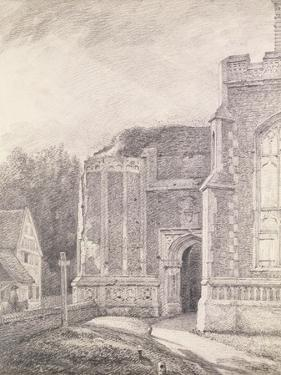 South Archway of the Ruined Tower of East Bergholt Church by John Constable