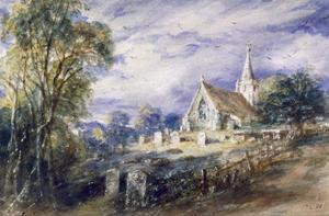 'Stoke Poges Church', Buckinghamshire, 1833 by John Constable