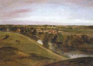 Stratford St Mary from the Coombs by John Constable