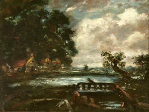 Study for the Leaping Horse (View on the Stour) by John Constable