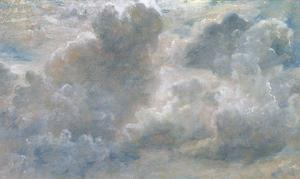 Study of Cumulus Clouds, 1822 (Oil on Paper Laid on Canvas) by John Constable