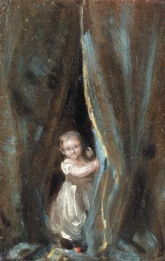 Study of the Artist's Daughter Maria as Bo-Peep, 1820 by John Constable
