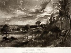 Summer Evening, from Various Subjects of Landscape Characteristic of English Scenery by John Constable