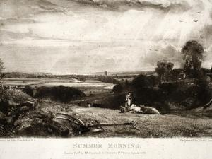 Summer Morning, from Various Subjects of Landscape Characteristic of English Scenery by John Constable