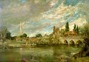 The Bridge of Harnham and Salisbury Cathedral, c.1820 by John Constable