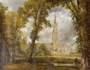 John Constable (The cathedral of Salisbury from the garden of the Bishop of view) Art Poster Print