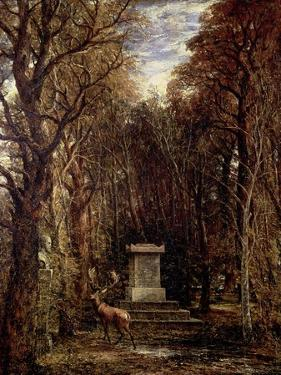 The Cenotaph to Reynold's Memory, Coleorton, circa 1833 by John Constable