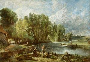 The Young Waltonians - Stratford Mill, c.1819-25 by John Constable