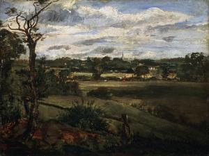 View of Highgate from Hampstead Heath, Early 19th Century by John Constable